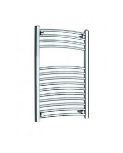 Kartell K-Rail New 25mm Steel Curved Chrome Heated Towel Rail