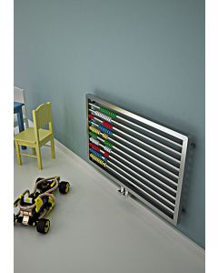 Carisa Abako Brushed Stainless Steel Horizontal Designer Radiator 600mm x 1000mm