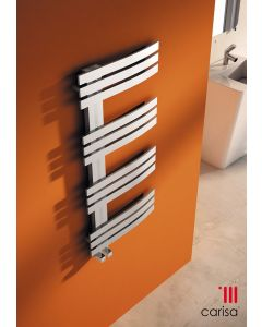 Carisa Adore Brushed Stainless Steel Designer Heated Towel Rail 1000mm x 500mm
