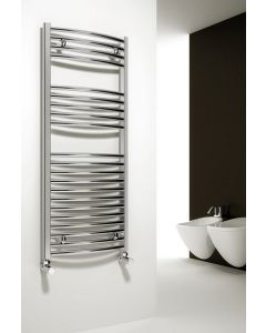 Reina Diva Steel Curved Chrome Heated Towel Rail