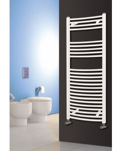 Reina Diva Steel Curved White Heated Towel Rail