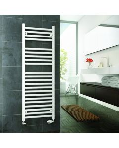 Reina Diva Steel Straight White Heated Towel Rail