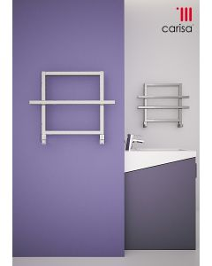 Carisa Ajax II Aluminium Designer Heated Towel Rail 450mm x 600mm