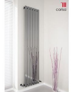 Carisa Anika Steel Chrome Vertical Designer Radiator