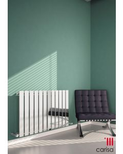 Carisa Anika Steel Chrome Horizontal Designer Radiator