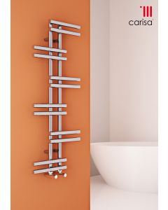 Carisa Antara Chrome Designer Heated Towel Rail