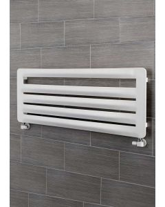 TRC BDO Arrow Steel White Designer Heated Towel Rail
