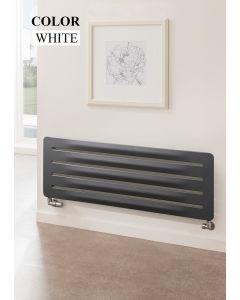 TRC Arrow Steel White Custom Painted Horizontal Designer Radiator