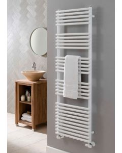 TRC Bath 25 Steel White Designer Heated Towel Rail