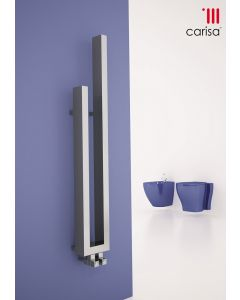 Carisa Carla Chrome Designer Heated Towel Rail 1200mm x 180mm