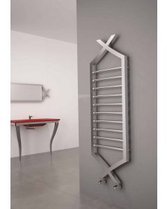 Carisa Clasico Brushed Stainless Steel Designer Heated Towel Rail 1490mm x 500mm