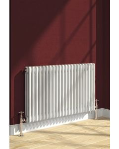 Reina Colona Steel White Horizontal Column Radiator