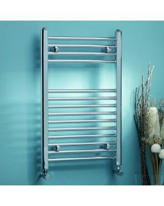 Kartell K-Rail 22mm Steel Curved Chrome Heated Towel Rail