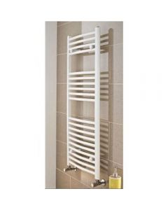 Kartell K-Rail 22mm Steel Straight White Heated Towel Rail