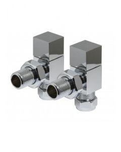 Kartell Cube Steel Radiator & Towel Rail Valve Chrome