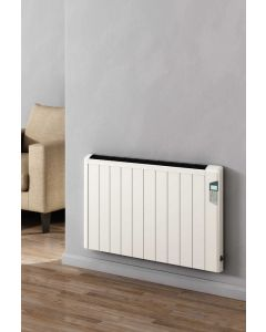 Reina Arlec Aluminium White Horizontal Designer Radiator Electric Only