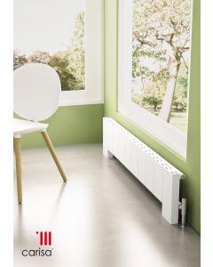 Carisa Elvino Floor Aluminium White Horizontal Designer Radiator