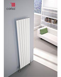 Carisa Elliptic Aluminium White Vertical Designer Radiator