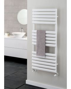 TRC Ellipsis Steel White Designer Heated Towel Rail