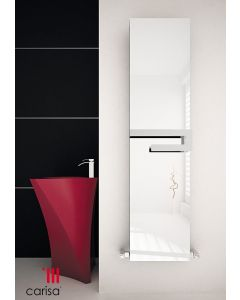 Carisa Elvino Bath Mirror Aluminium Custom Painted Vertical Designer Radiator 1800mm x 370mm