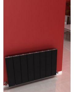 Carisa Elvino Aluminium Black Horizontal Designer Radiator