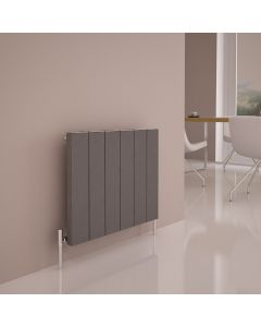 Carisa Elvino Aluminium Grey Custom Painted Horizontal Designer Radiator