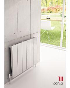 Carisa Elvino Aluminium White Horizontal Designer Radiator