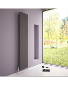 Carisa Elvino Aluminium Grey Custom Painted Vertical Designer Radiator