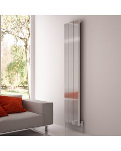 Carisa Elvino Polished Aluminium Custom Painted Vertical Designer Radiator