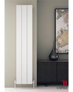 Carisa Elvino Aluminium White Vertical Designer Radiator
