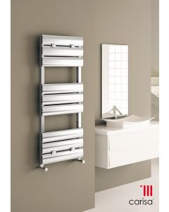 Carisa Elliptic Bath Polished Aluminium Designer Heated Towel Rail