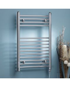 Kartell Electric Steel Straight Chrome Heated Towel Rail