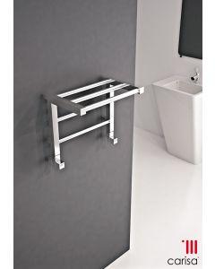 Carisa Etage Chrome Designer Heated Towel Rail 800mm x 500mm