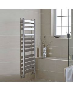 Kartell Newark Steel Chrome Designer Heated Towel Rail