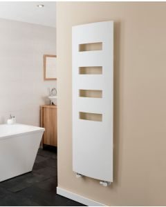 TRC Extro Aluminium White Designer Heated Towel Rail