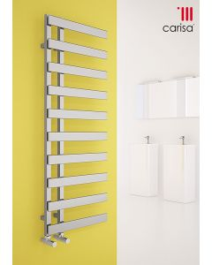 Carisa Floris Steel Chrome Designer Heated Towel Rail