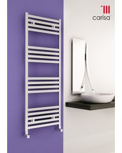 Carisa Fame Polished Aluminium Designer Heated Towel Rail