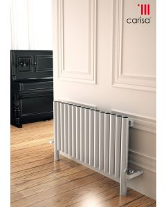 Carisa Fortuna Brushed Stainless Steel Horizontal Designer Radiator