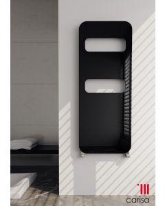 Carisa Fori Aluminium Black Vertical Designer Radiator 1185mm x 500mm