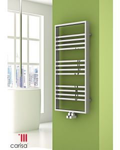 Carisa Frame Steel Chrome Designer Heated Towel Rail