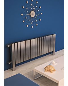 Carisa Forte Brushed Stainless Steel Horizontal Designer Radiator