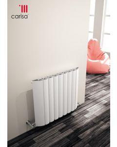 Carisa Gaia Aluminium White Horizontal Designer Radiator