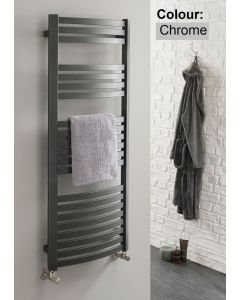 TRC Griffin Steel Curved Chrome Heated Towel Rail