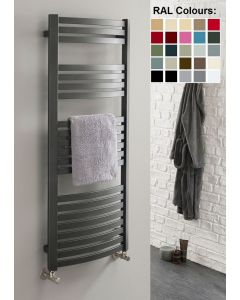 TRC Griffin Steel Curved Custom Painted Heated Towel Rail