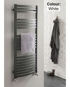 TRC Griffin Steel Curved White Heated Towel Rail