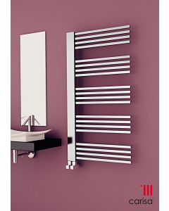 Carisa Gradient Chrome Designer Heated Towel Rail
