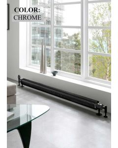 TRC Halo Steel Chrome Horizontal Designer Radiator