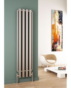 Carisa Hermes Brushed Stainless Steel Vertical Designer Radiator