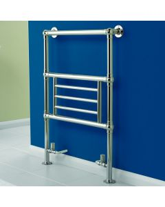 Kartell Houston Steel Chrome Designer Heated Towel Rail 945mm x 675mm