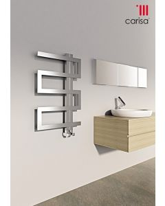 Carisa Ibiza Brushed Stainless Steel Designer Heated Towel Rail